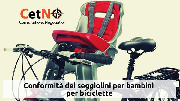 conformità dei seggiolini per bambini per biciclette