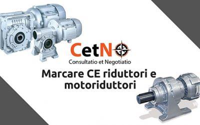 Marcare CE i riduttori e i motoriduttori