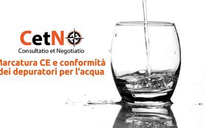 Marcatura CE o conformità depuratori d'acqua