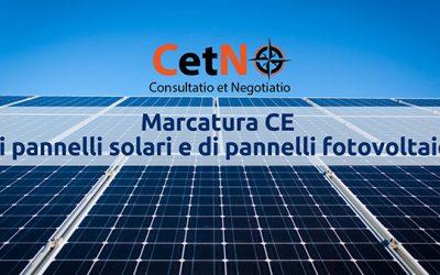 Marcatura CE di pannelli solari e di pannelli fotovoltaici
