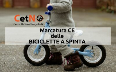 Marcatura CE biciclette a spinta