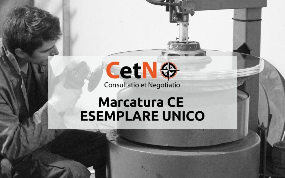 Marcatura CE esemplare unico