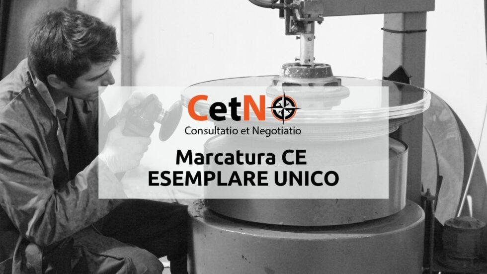 Marcatura CE - esemplare unico