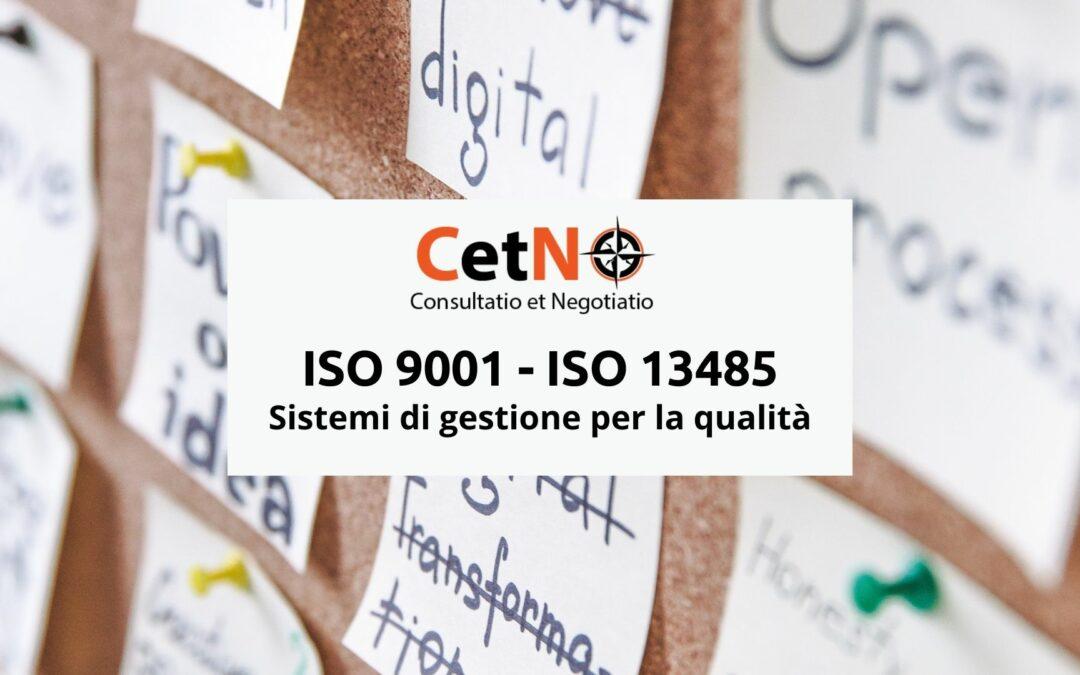 ISO 9001 e ISO 13485